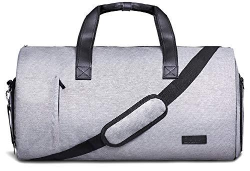 Packshi Anzugtasche UND Reisetasche 2in1, 55l Weekender-Tasche, Reise-Seesack Reisetaschen für Männer, Handgepäck, Kabinentasche Leder Business Tasche Handgepäck Anzug, Tragekoffer, Kleidersack Männer - Leder-reise-kleidersack
