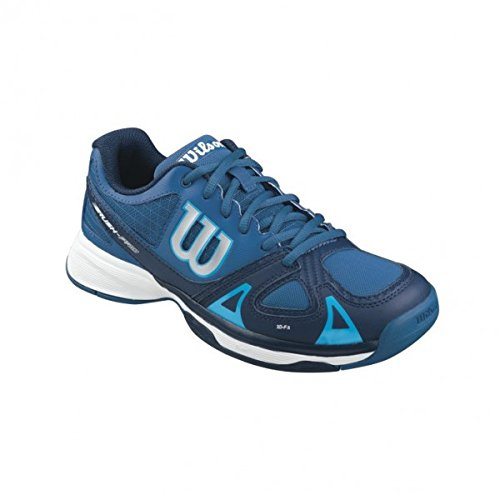 Wilson Unisex-Kinder RUSH PRO JR Tennisschuhe, Mehrfarbig (DEEP Water/Navy Scuba Blue), 37 2/3 EU Deep Navy Schuhe