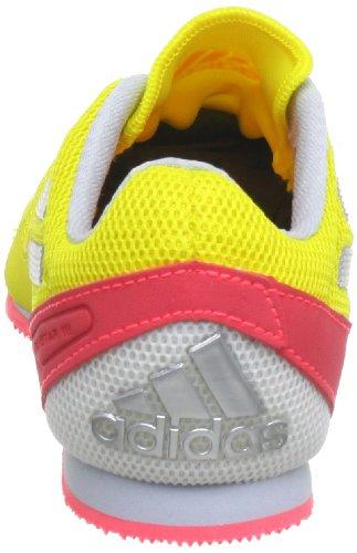 adidas Techstar Allround 3, Chaussures de running adulte mixte Jaune - Gelb (Running White Ftw / Metallic Silver / Red Zest S13)