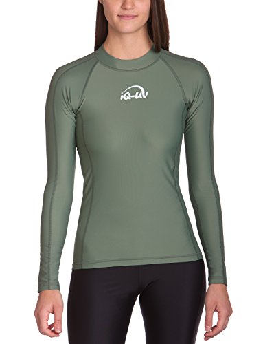iQ-UV 300 Shirt eng geschnitten, langarm, UV-Schutz T-Shirt, Olive, XS (36)