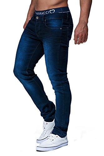 LEIF NELSON Herren Hose Jeans Jeanshose Freizeithose Denim LN303; W32L30, Blau