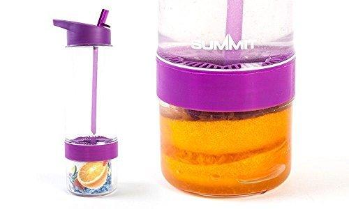 Summit Fruit Fusion Aqua Saft-Ei Wasser Flasche Gesunde Gym 650ml-Violett - Aqua-wasser-flasche
