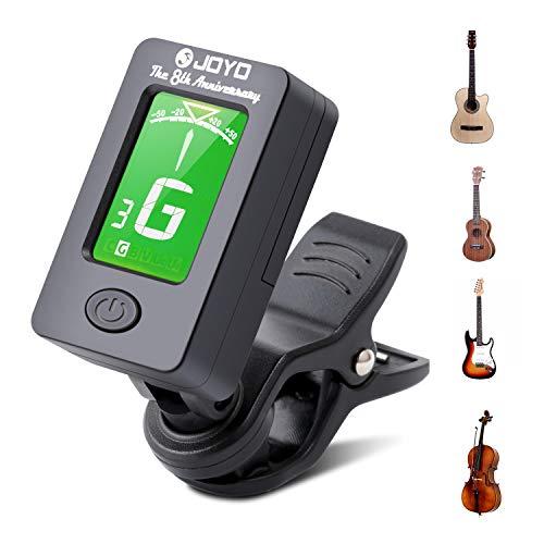 Debonice Afinador de Guitarra,Afinador Digital Española con Clip,Sintonizador 360°Rotación LCD Para Guitarra Bajo Violín Ukulele,Incluidas Otros Instrumentos de Cuerda,con Pilas,Apagado Automático