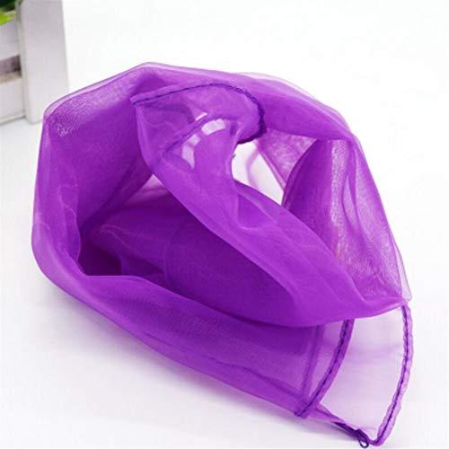 EEvER Toller Komfort, tragbare Spielbarkeit 45 * 45cm Reine Farbe Quadrat Kinder Tanz Hand Garn Schal (dunkel lila)