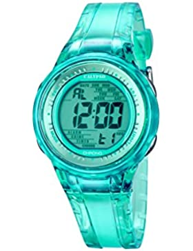 Calypso Damen-Armbanduhr Digital mit Türkis Zifferblatt Digital Display und Türkis Kunststoff Gurt k5688/4