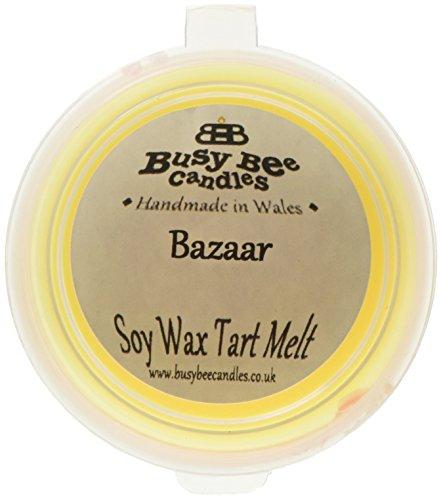 Scheda dettagliata Busy Bee Candles-Tart in Cera alla fragranza di Bazaar, Motivo Gelato Che Si scioglie, Colore: Giallo, Set da 6