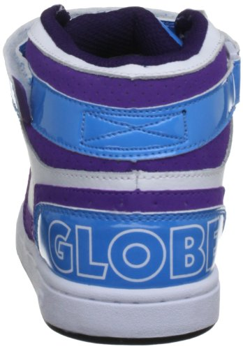 Globe Superfly Kids, Chaussures de skate garçons Bleu (Hawaian White)