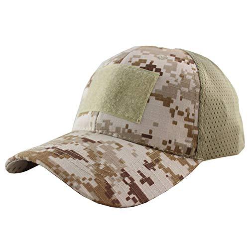 CGXBZA Sommer Atmungsaktives Mesh Taktische Armee Kappe Klettverschluss Abzeichen Patch Camo Hüte Für Männer Frauen Knochen Wüste Digital (Digital Camo-hut)