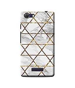 Be Awara Glitter Effect Marble Designer Mobile Phone Case Back Cover For Micromax Unite 3