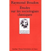 Études sur les sociologues classiques