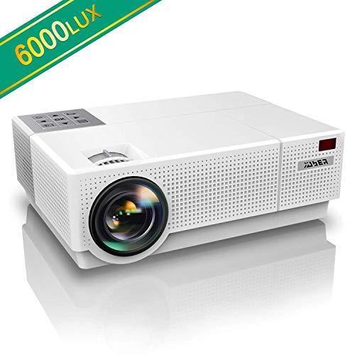 Vidéoprojecteur, YABER 6000 Lumens Video Projecteur Full HD 1080P (1920 x 1080) Retroprojecteur...