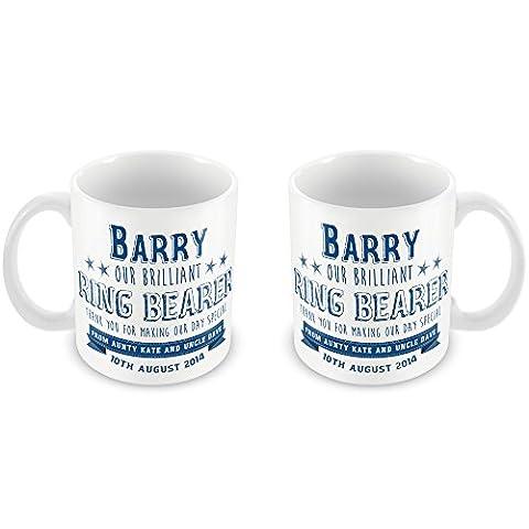 Personalised Ring Bearer Wedding Mug Classics unique gift idea Thank you