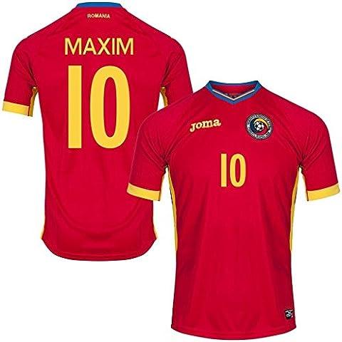 Generic 20162017Rumania 10Alexandru Maxim Away Jersey de fútbol en rojo, hombre, rojo,