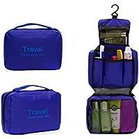 Protable viaggio impermeabile per cosmetici e custodia da trasporto borsa organizer reggiseno biancheria intima del (Blu Sacchetto Di Trasporto)