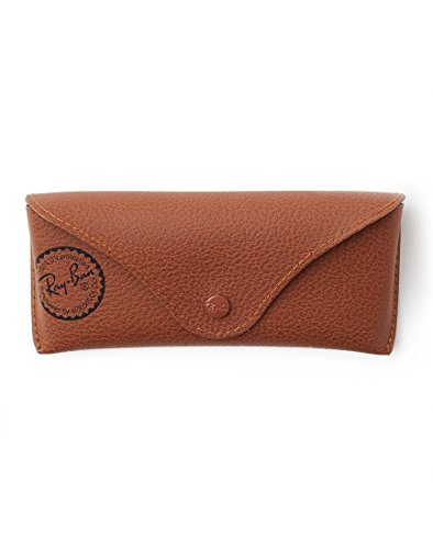 HTH Brown Leather Style Medium Case COVER POUCH - Fits most Rayban Sunglasses, RB3025, RB2132, Rayban Aviator, Rayban Wayfarer and others