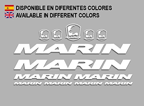 White Ecoshirt 13-DO9O-I5A1 Stickers Set Marin Biclycle R205 Vinyl Adesivi Decal Aufkleber КТу MTB Stickers Bike