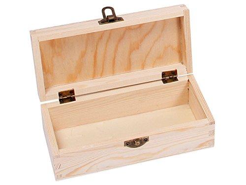 Alsino Boîte avec Couvercle Coffret en Bois Brut de qualité supérieure à thé Tea Box Caisse Valisette, Choisir:Bois Box 01