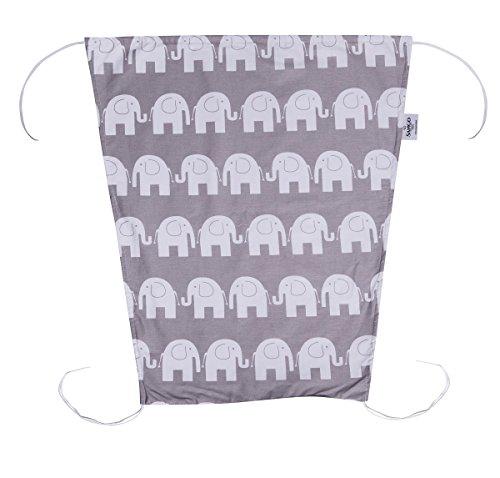 Sango Trade Sonnensegel für Kinderwagen Sonnenmarkise Größe: 50 x 65 cm Grau Elefanten