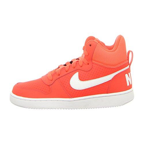 Nike Wmns Court Borough Mid, Chaussures de Sport-Basketball Femme Rouge (pourpre vif / blanc)
