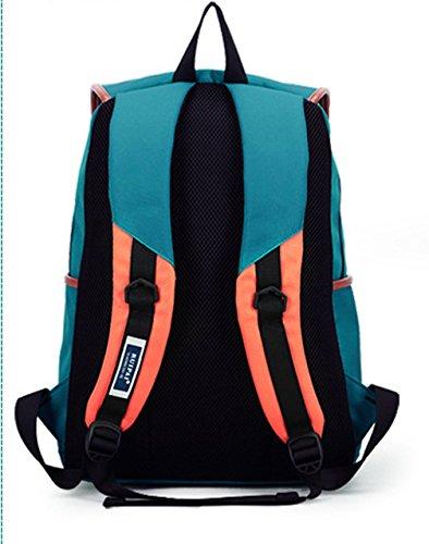 Keshi neuer Stil Damen accessories hohe Qualität Einfache Tasche Schultertasche Freizeitrucksack Tasche Rucksäcke Blau