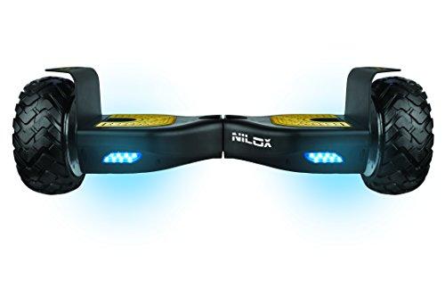Nilox Hoverboard Doc Off Road UL 2272 mit Bluetooth Speaker, ElektroScooter, E-Balance Scooter, Elektro Hoverboard, Self Balance Scooter, Balance Scooter 8'' inch, 360 W, 10km/h, Schwarz