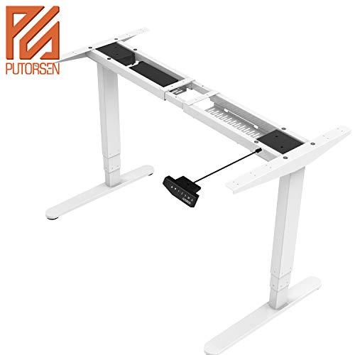 PUTORSEN ES23W Höhenverstellbarer Schreibtisch Elektrisch höhenverstellbares Tischgestell...