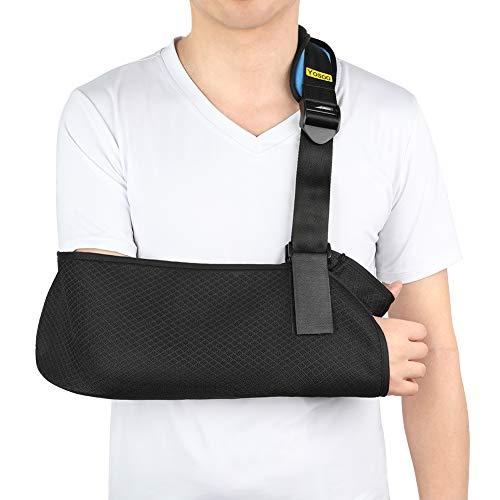 Armschlinge für Gebrochenen Arm, Armschlinge Schulter Bandage Schulterschlinge Gepolstert mit Hüftgurt für Handgelenk, Ellenbogen, Schulterverletzungen für Damen und Herren, linkes oder rechts Arm
