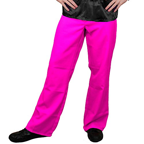 I love Fancy Dress ilfd4605l/XL Hot Pink Disco Schlaghosen Herren Deluxe Disco Hose 1970 Hose Disco King 70er Fancy Kleid L/XL
