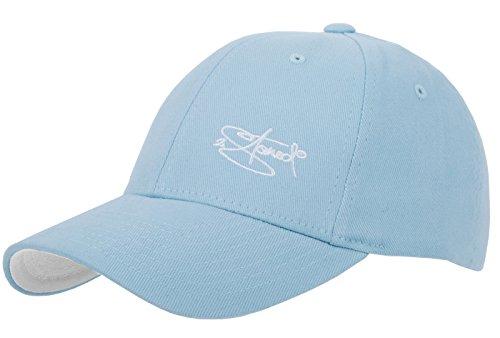 2Stoned Flexfit Cap Carolina Blue mit Stick, Größe XS (55 cm - 57 cm), Basecap für Damen, Herren und Kinder Blau Fitted Hat Cap