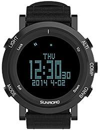 Sunroad 2017nueva llegada Deportes al aire libre reloj hombre fr851b brújula altímetro barómetro podómetro reloj con correa de nailon de alta calidad