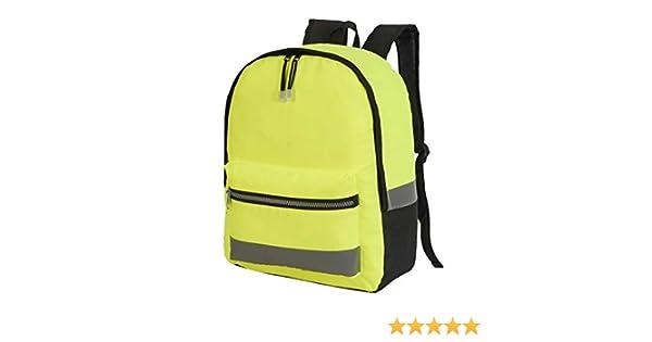Hi Vis Viz Backpack Reflective Travel College High Visibility Work Rucksack Bags