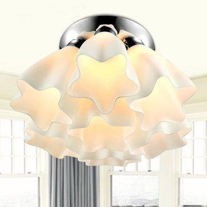 Fiore luci LED Salone minimalista moderno lampada soffitto camera da letto lampada calda sala da pranzo leggero
