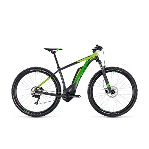 E-Mountainbike Cube Reaction Hybrid Pro 500 iridium'n'green, 69,9 cm / 27,5 Zoll, 2018 – 40,6 cm / 16 Zoll (Cube Tapered)