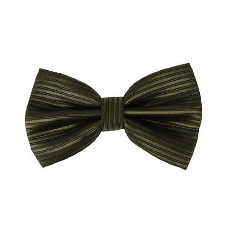 DBC2031 Green Cheap Bowties For Men Stripes Olive drab Black