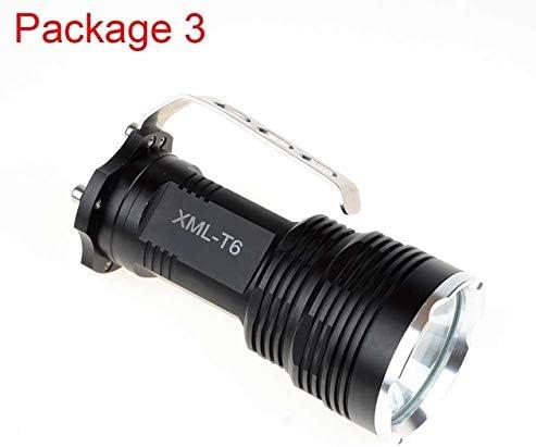 Pacchetto 3  5 modalità dimming dimming dimming torcia CREE XM-L T6 glare torcia LED ad alta potenza robusto corpo in lega di alluminio grande vano batteria B07DJ9N25L Parent | Bel design  | Elegante Nello Stile  | Good Design  d4a55a