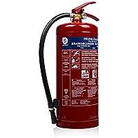 Smartwares 10.014.72 (BB6) Extintor-6kg Polvo seco Resistencia al Fuego ABC Incluye Soportes, Rojo