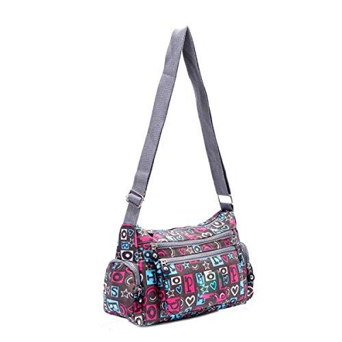 Ms. Messenger Bag Femminile BUKUANG Oxford Di Nylon Piccola Borsa Borsa Mamma Di Mezza Età Borsa Da Viaggio Di Tela,P J