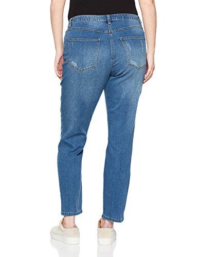 Studio Untold Mit Destroyeffekten, Jeans Skinny Donna Blau (Bleached 92)