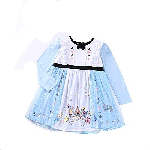 Das beste Kleine Mädchen Prinzessin Kostüm Fancy Kleider Rüschen Langarm Spitze Halloween Party verkleidensich