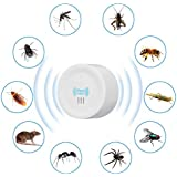 KACOOL Ultrasonic Pest Control Repeller, Insect Repellent Machine for Home Indoors Supersonic Cockroach Killer for Lizard Rats Rodents Mosquitoes Spiders Flies Ants Mice Roach (Round)