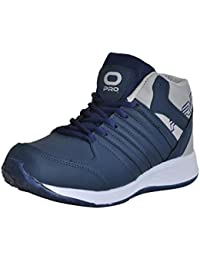 Pro (from Khadims) Mens Navy Blue Faux Leather Dress Sneakers - 6