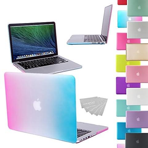 GUPi® / NOUVEAU, Coque ARC-EN-CIEL, en caoutchouc, avec effet de transparence, pour Apple Macbook Pro 15 pouces avec ÉCRAN RETINA (modèle : A1398) (PAS adapté aux MacBook Pro équipés d