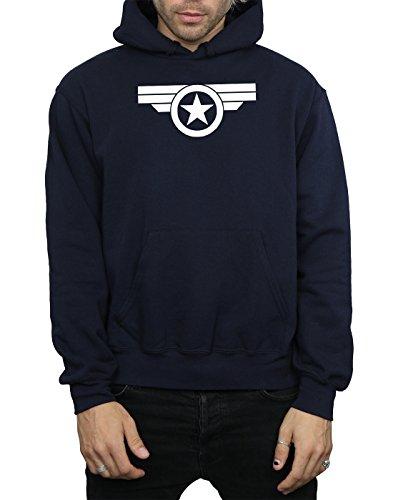 Marvel Herren Captain America Super Soldier Kapuzenpullover Deep Navy