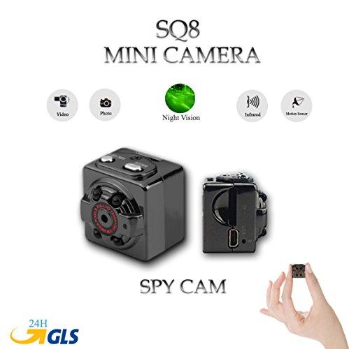 Kamera Mini Full HD SQ8Micro Camera mit Nachtsicht Infrarot Bewegungsmelder Sensor und Spy CAM Spy versteckte