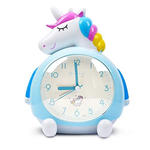 Minvo Einhorn Wecker für Kinder, Nacht mit lauter Musik Wecker aufwachen, ideale Geschenke für...