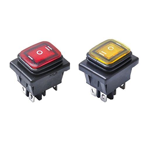 Dolity 6-Pin LED beleuchtet Schalter Kippschalter Knopf Toggle Schalter Ersatz teil (Marine-schalter 6)