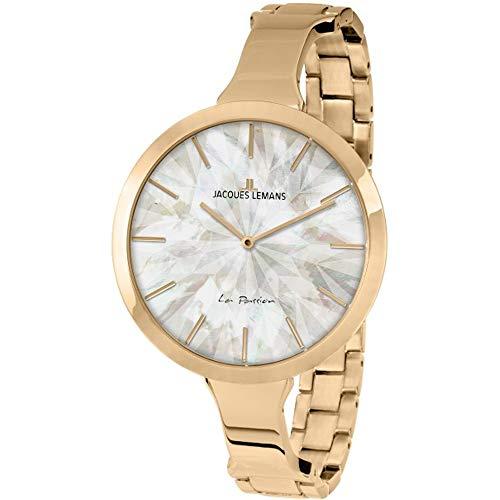 Jacques Lemans Women's La Passion 44mm IP Steel Bracelet Quartz Watch 1-2032G