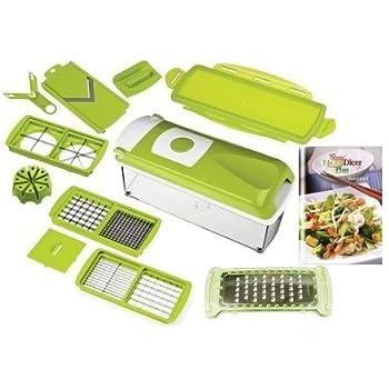 genius nicer dicer plus compact set 7 tlg vegetables fruit multi slicer cutter green. Black Bedroom Furniture Sets. Home Design Ideas