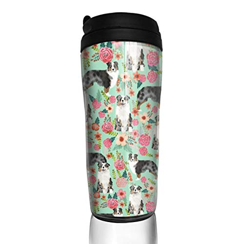 Aussie Dog 29422 Kaffeetasse mit Blumenmuster und Aufschrift