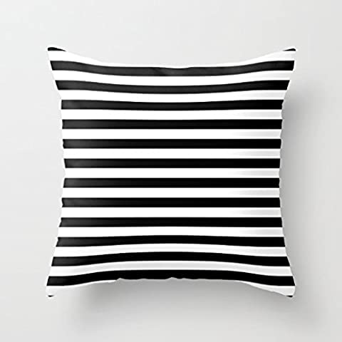 whiangfsoo moderno bianco e nero strisce Monochrome Throw Pillow Cover, #Whiangfsoo-03, 24
